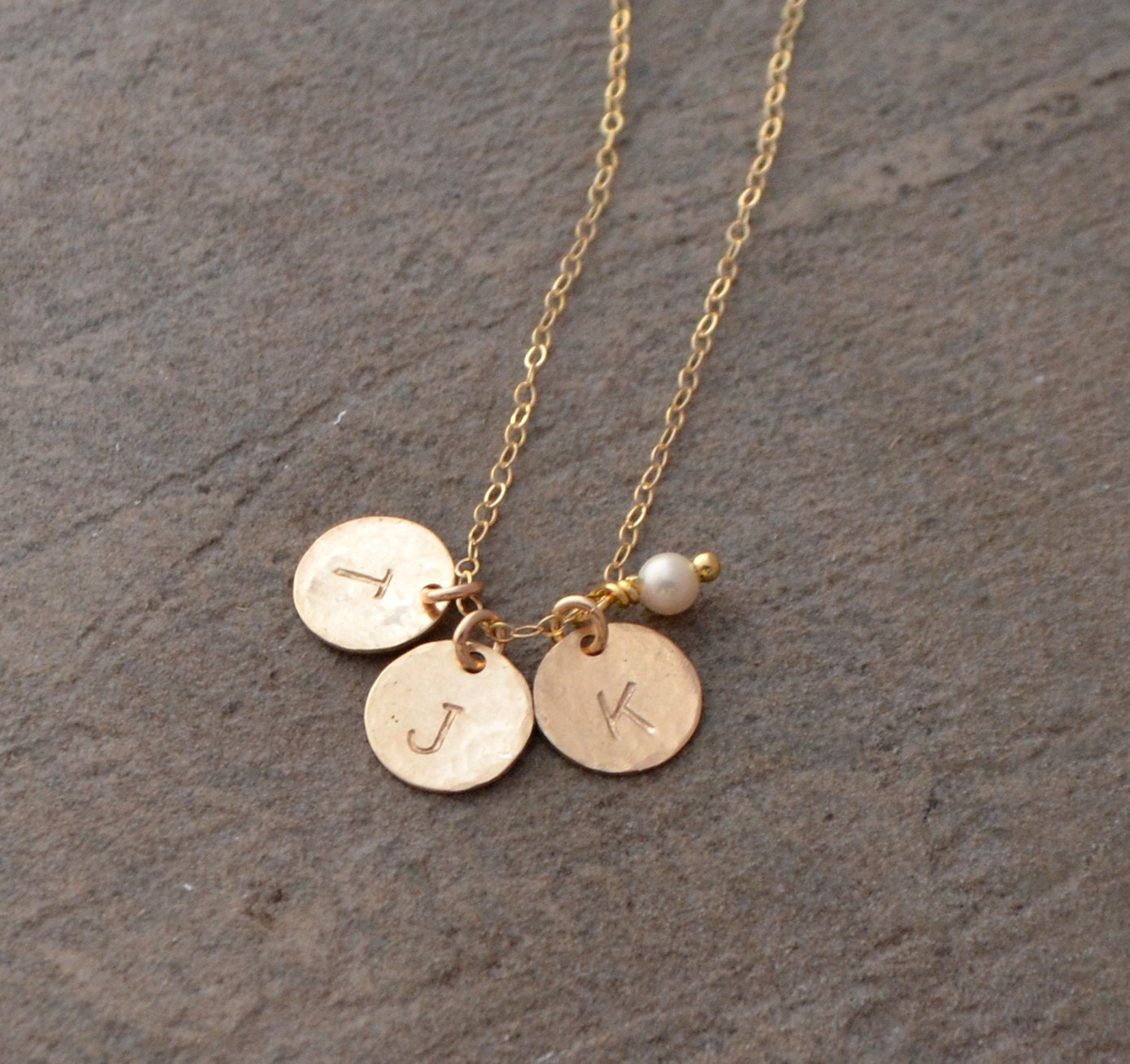 sterling silver initial necklace gold disc initial necklace. Black Bedroom Furniture Sets. Home Design Ideas