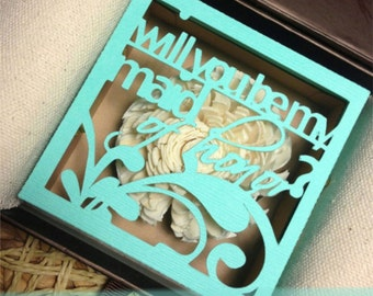 Will you be my bridesmaid -  unique personalized proposal gift box - picture included