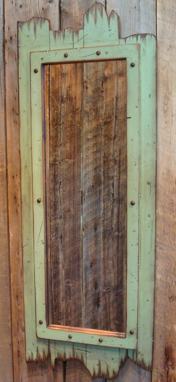 Light Green 60 X 22 Full Length Barn Wood Mirror Great For A