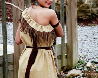 Pocahontas Dress - Native American Dress - Princess Inspired Dress- Pocahontas Costume - Indian Princess - Dsiney Dress, Disney Costume