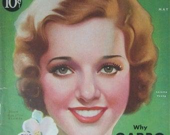Original May 1931 Loretta Young Silver Screen Magazine Cover By John Rolston Clarke