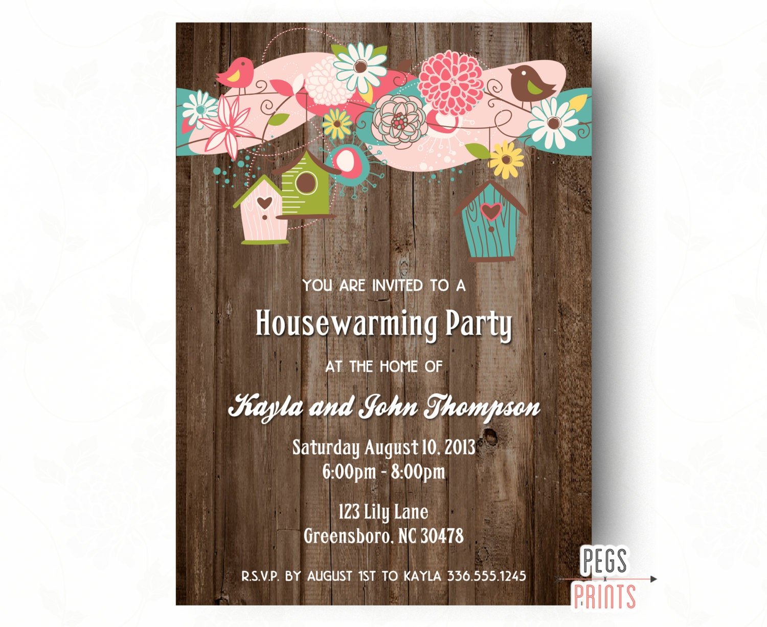 rustic housewarming party invitation rustic wood. Black Bedroom Furniture Sets. Home Design Ideas