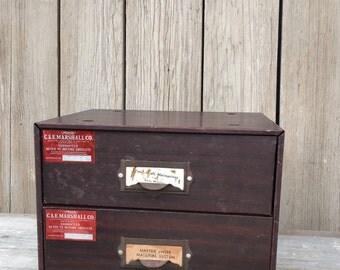 vintage metal drawers, small metal storage boxes with drawers