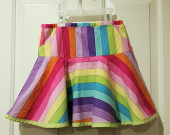 Drop-waist Rainbow Twirly Skirt with POCKET!