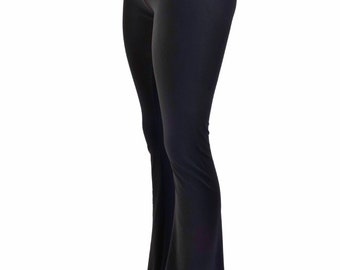Womens Boot Cut High Waist Leggings in Black Zen Soft Knit SUPER Comfy!   153927