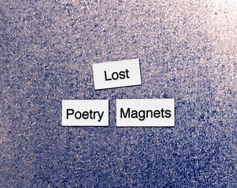 Lost Poetry Magnets - Refrigerator Word Quote Magnets