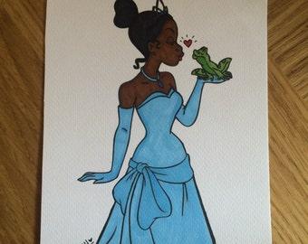 Princess Tiana Princess & The Frog //Art//Gift Idea//Christmas Gifts//Disney//Home Decor
