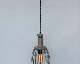 Industrial Whisk Lamp, Reclaimed Lighting, Hobart Whisk, Industrial Lighting Pendant, Unique Lighting, Whisk Pendant Light, Farmhouse Lamp