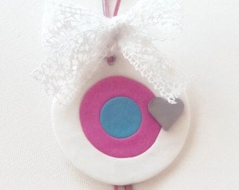 Evil Eye for newborn baby girl, baptism lampada decoration, baby shower, gift