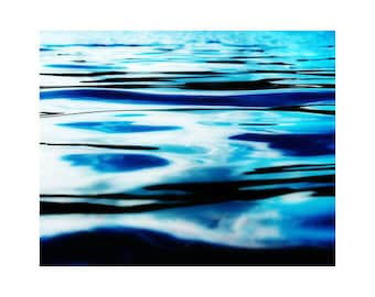 Ocean art, water photography, ocean photography, relaxing art, blue abstract art, abstract photography, large art