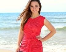 "Modest Swimwear, Swim Top for Women - Style ""Rebekah"" - CUSTOM SIZED SwimTop, Tee, Shirt"