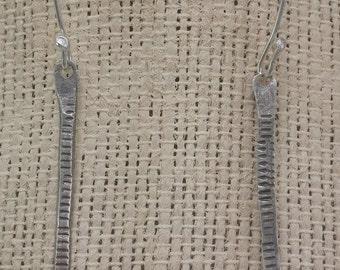 Sterling Rollprinted Onyx Stick Earrings Sterlng Earrings Onyx Earrings---Made to Order
