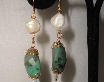 A Flawless Emerald Boroque Pearl Earrings*****.