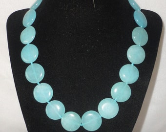 Flawless Aquamarine Coin Shaped Necklace*****.