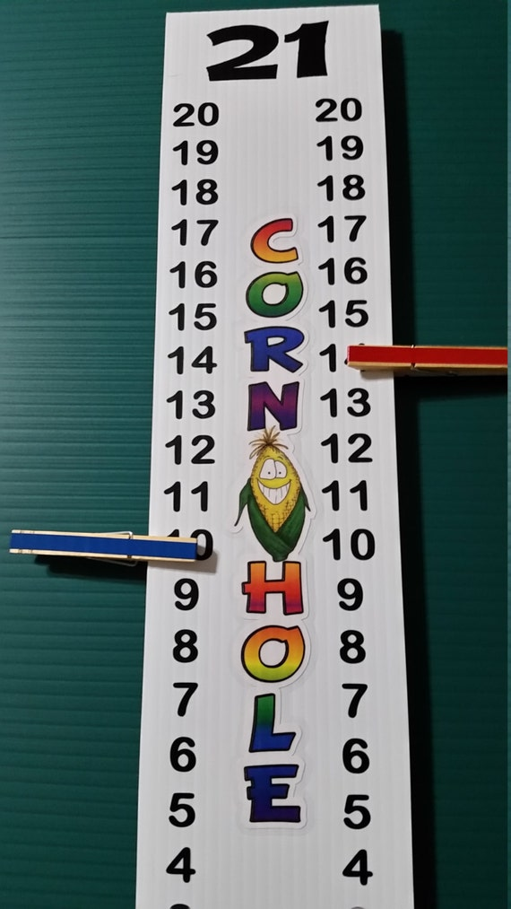 Cornhole Scoreboard Score Keeper Full Color Corn By Wrengifts
