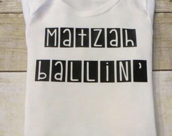 """Boy's Passover """"Matzah Ballin'"""" Tee or Onesie"""