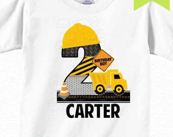 Construction Birthday Shirt Image | Iron On Printable | Style 1 | Any age | YOU PRINT