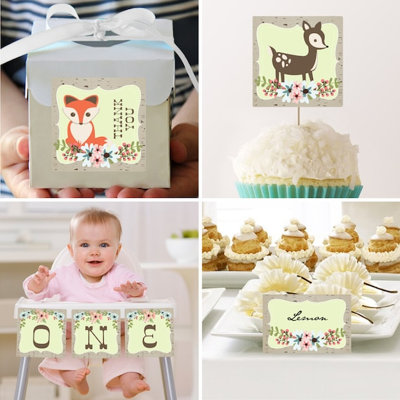 Items similar to woodland first birthday decoration for 1st birthday decoration packages