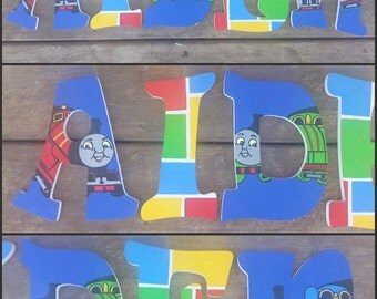 Thomas and Friends Inspired Hand Painted Wooden Letters, Hand Painted Letters, Thomas the Train, Custom Wood Letters, Name Letters, Thomas