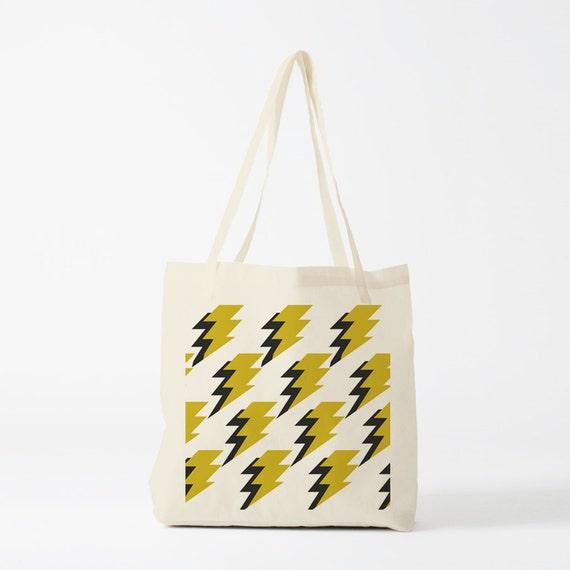 Tote Bag, Lightenings, canvas bag, cotton tote, novelty gift, groceries bag, laptop bag,  reusable tote, shopper bag, gift coworker.
