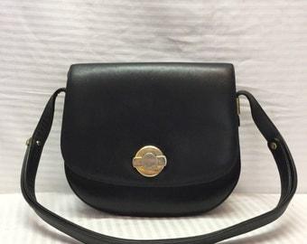 Stazione Elcanto, Saddle Bag, Leather Purse, Black, Leather, Bag, Purse, Shoulder Bag, Free US shipping