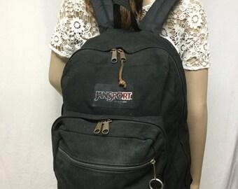 Jansport Backpack,backpack bag, Leather Bottom,black,brown,back pack