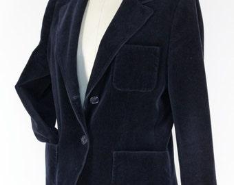 Blue night velvet jacket Size S