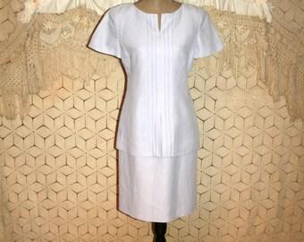 Lavender Purple Dress Short Sleeve Linen Dress Midi Womens Spring Dresses Small Size 4 Size 6 Evan Picone Womens Dresses Vintage Clothing