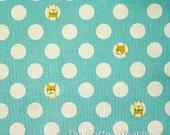 Kokka Bulldogs Fabric ~ Kokka Fabric ~ Aqua Dogs Fabric ~ Japanese Fabric ~ Canvas Fabric ~ Linen Fabric ~ Cotton Fabric ~ Home Decor Fabric