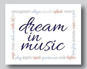 Music Teacher Gift, Gift for Music Lover, Music Artwork, Music Wall Decor, Music Wall Art, Music Note, Music Sign, Musical Instrument