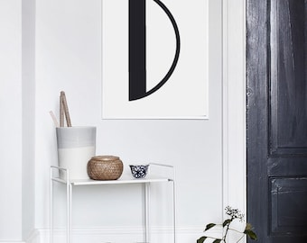 Letter D - Custom Letter - Name Initials - Typography - Inspiration Print - Digital Print - Motivation Print - Wall Decor - CUSTOM SIZE