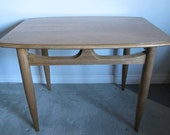 MId Century Modern End Table Danish Side Table Deilcraft Blonde Wood Table MCM Retro Made In Canada 60's Vintage Furniture Pale Wood