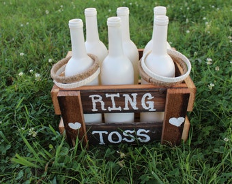 Rustic Ring Toss Game,burlap,lace,reclaimed barn wood,rustic wedding,wedding reception,wedding kids game,childrens game,childrens activity