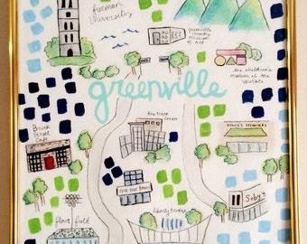 Greenville, SC Watercolor