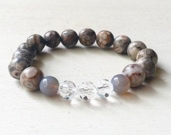 Maifanite Bead Bracelet//Jasper Bead Bracelet