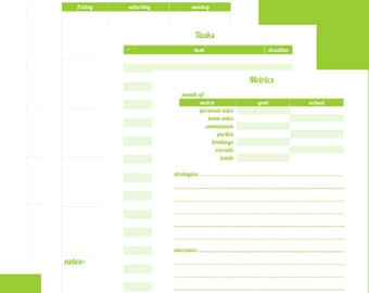 "Direct Sales Planner 8.5"" x 5.5"" - Green"