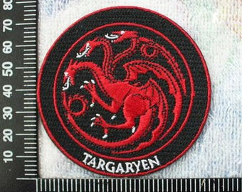 Game of Thrones House Targaryen Iron on Patches CD170