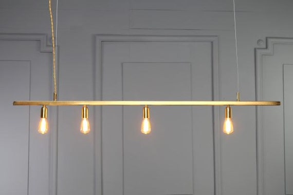 DIANA Gold Copper Tube Pendant Light Minimal Geometric Modern
