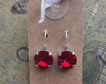 Swarovski Crystal leverback earrings