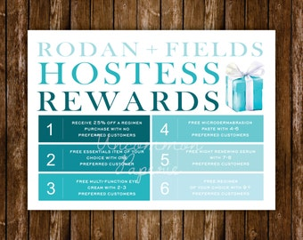 Hostess Rewards Card | Rodan and Fields
