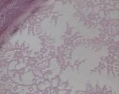 Lilac lace Trim, Chantilly Lace, French Lace, Bridal lace, Wedding Lace, Scalloped lace Eyelash lace Floral Lace Lingerie Lace yard JM29001
