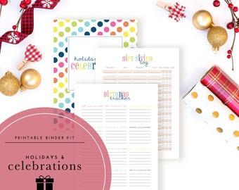 Holidays & Celebrations Binder Kit PDF - A Printable PDF