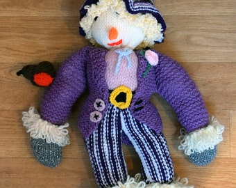 Hand Knitted Scarecrow Toy