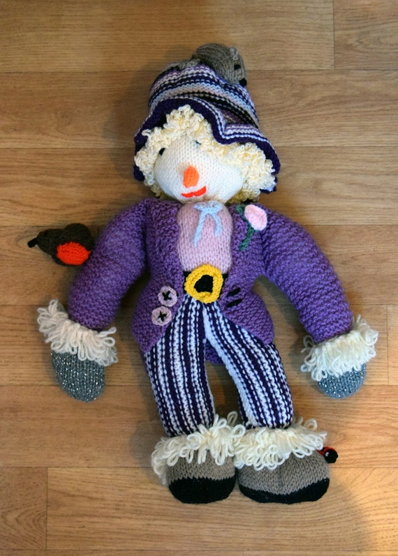 Hand Knitted Toys : Hand knitted scarecrow toy