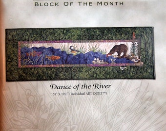 Dance Of The River Block Ten At Home In The Woods By McKenna Ryan And Pine Needles Uncut Quilt Block Pattern 2000
