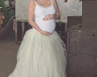 Maternity Skirt -Ivory Tulle Dress  -Tulle Dress -Full Skirt - Gown -White Dress - White Tulle Skirt - White Dress - Tutu Dress - Tulle Gown