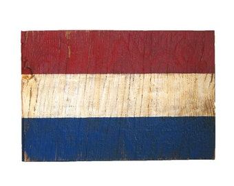 Dutch Flag Sign - wooden dutch sign - wood netherlands sign - outdoor sign - netherlands flag - cottage - lake house - cabin decor