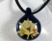 Glass Flower Implosion Pendant