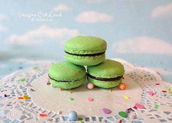 FAUX MACARON Set Chocolate Mint