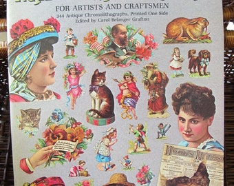 Full-colour Victorian vignettes and illustrations for artists and craftsmen 344 antique pictures